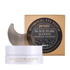 Petitfee Black Pearl&Gold Hydrogel Eye Patch Патчи под глаза с золотом и черным жемчугом Original