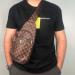 Сумка слим Louis Vuitton Jacob Клетка, коричневая 2140  - фото