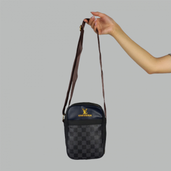 Мужская сумка Louis Vuitton Brian Клетка, черная 2229 - фото