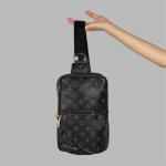 Сумка слим Louis Vuitton Avenue Черная 2262  - фото