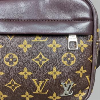 Сумка планшетка Louis Vuitton Duo Коричневая 2290 - фото_3
