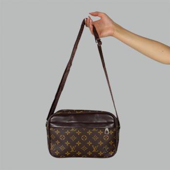Сумка планшетка Louis Vuitton Duo Коричневая 2290 - фото