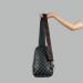 Сумка слим Louis Vuitton Austen Черная, клетка 2311 - фото_2