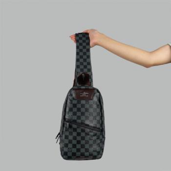 Сумка слим Louis Vuitton Austen Черная, клетка 2311 - фото
