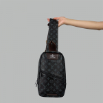 Сумка слим Louis Vuitton Austen Черная 2311  - фото