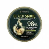 3W Clinic Black Snail Real Natural Soothing Gel Универсальный гель с муцином чёрной улитки