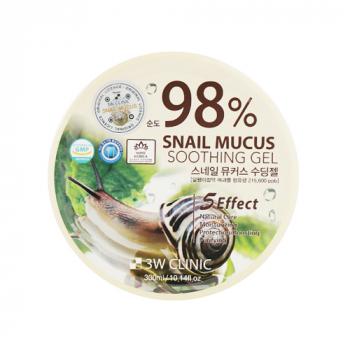 3W Clinic Snail Soothing Gel Гель для лица и тела с муцином улитки - фото