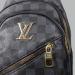 Сумка слим Louis Vuitton Harry Клетка, черная 7136 - фото_3