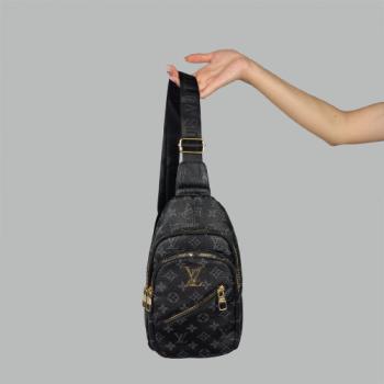 Сумка слим Louis Vuitton Harry Черная 7136 - фото