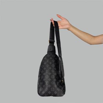 Сумка слим Louis Vuitton Harry Черная 7136 - фото_2
