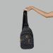 Сумка слим Louis Vuitton Harry Клетка, черная 7136 - фото