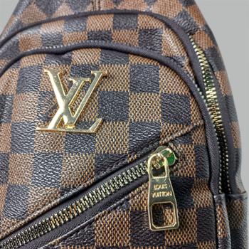 Сумка слим Louis Vuitton Harry Клетка, коричневая 7136 - фото_3