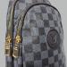Сумка слим Louis Vuitton Felix Клетка, черная 7171 - фото_3