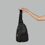 Сумка слим Louis Vuitton Felix Черная 7171  - фото
