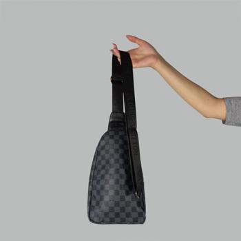 Сумка слим Louis Vuitton Felix Клетка, черная 7171 - фото_2