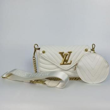 Сумка Louis Vuitton New Wave Multi Pochette White Snow Белая 7075 - фото_3