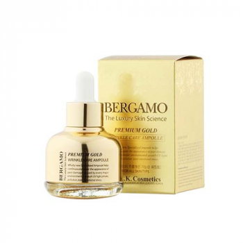 BERGAMO Premium Gold Wrinkle Care Ampoule сыворотка для лица - фото