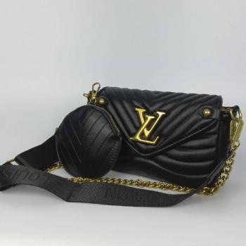 Сумка Louis Vuitton New Wave Multi Pochette Black Pearl 7075 - фото_3