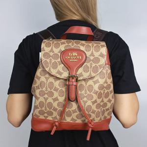 Рюкзак Coach Signature Evey Backpack Коричневий 0914