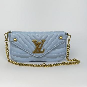 Сумка Louis Vuitton New Wave Multi Pochette Blue Sky Голубая 7075 - фото_2
