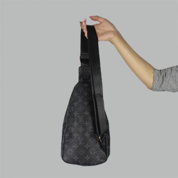 Сумка слим Louis Vuitton Jacob Черная 2140 - фото_3