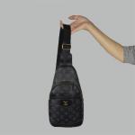 Сумка слим Louis Vuitton Jacob Черная 2140  - фото