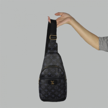 Сумка слим Louis Vuitton Jacob Черная 2140 - фото_2