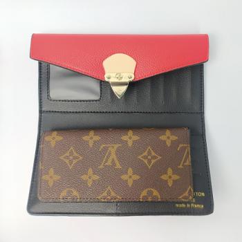 Кошелек Louis Vuitton Emilie Красный 8654 - фото_4