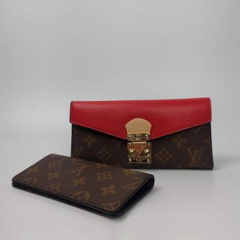 Кошелек Louis Vuitton Emilie Красный 8654 - фото