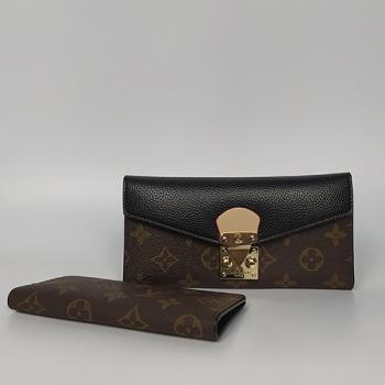 Кошелек Louis Vuitton Emilie Черный 8654 - фото