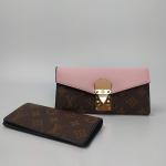 Кошелек Louis Vuitton Emilie Розовый 8654  - фото