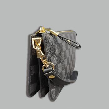 Кошелек Louis Vuitton S Клетка, чёрная - фото_3