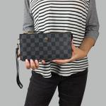 Кошелек Louis Vuitton S Клетка, чёрная  - фото