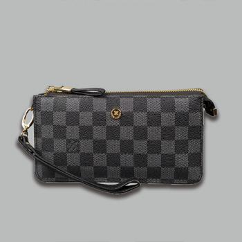 Кошелек Louis Vuitton S Клетка, чёрная - фото_2