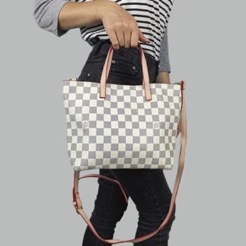 Сумка Louis Vuitton Damier Белая, клетка Azur - фото