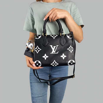 Сумка Louis Vuitton Ontherun Черная 8585 - фото