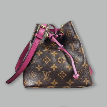 Сумка-рюкзак Louis Vuitton Neonoe Mini Фуксия 7082 - фото_2