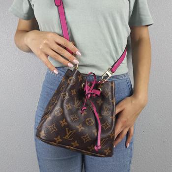 Сумка-рюкзак Louis Vuitton Neonoe Mini Фуксия 7082 - фото