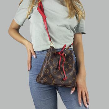 Сумка-рюкзак Louis Vuitton Neonoe Mini Красная 7082 - фото