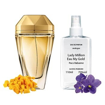Paco Rabanne Lady Million Eau My Gold Парфюмированная вода 110 ml