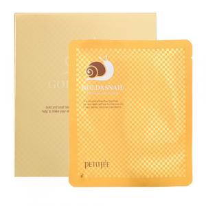 Petitfee Gold & Snail Face Mask Гідрогелева маска для обличчя