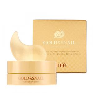 Petitfee Gold&Snail Hydrogel Eye Patch Патчи под глаза с золотом и улиткой Original
