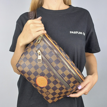 Поясная сумка Louis Vuitton Outdoor Клетка, коричневая 7693 - фото