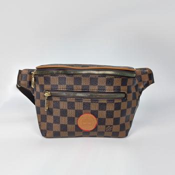 Поясная сумка Louis Vuitton Outdoor Клетка, коричневая 7693 - фото_2