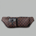 Поясная сумка Louis Vuitton Christopher Клетка, коричневая 2333 - фото_2
