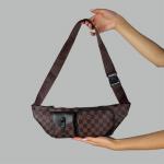 Поясная сумка Louis Vuitton Christopher Клетка, коричневая 2333  - фото
