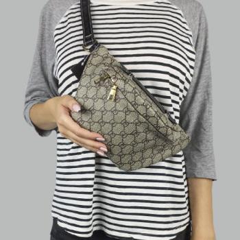 Поясная сумка Gucci Bubag World Tour Gray 9041 - фото