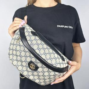 Поясная сумка Gucci Bumbag Monogram Коричневая 2196