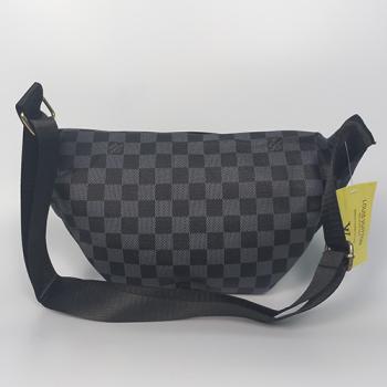 Поясная сумка Louis Vuitton Bumbag Monogram Клетка, черная 2196 - фото_3