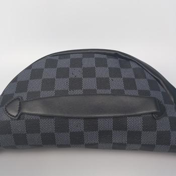 Поясная сумка Louis Vuitton Bumbag Monogram Клетка, черная 2196 - фото_4